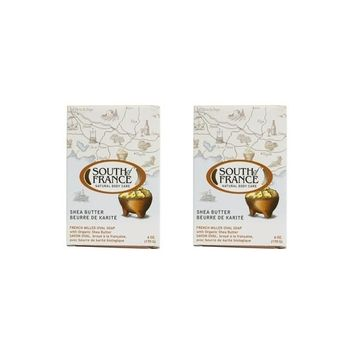 South Of France Natural Bar Soap, Shea Butter, 6 Ounce (Pack of 2)