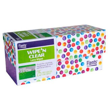 Craftmates Wipe'n Clear Lens Wipes 25/Pkg-Assorted