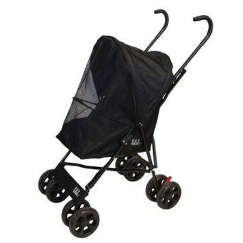 Pet Gear 15.5 in. x 11 in. x 23 in. Black Travel Lite Pet Stroller
