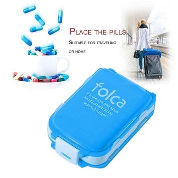 Double Layer Pill Box Organizer Travel Plastic Folding Vitamin Medicine Box