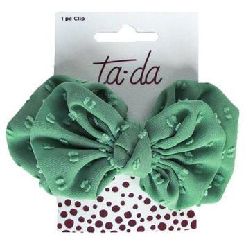 Ta-da™ Girls' Large Bow Clip Sage Green 1 ct