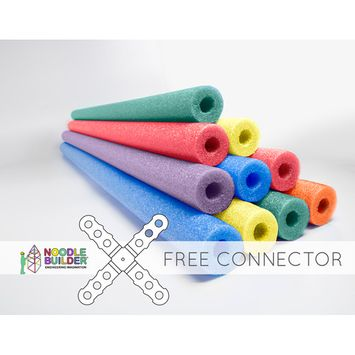 Oodles of Noodles Deluxe Foam Pool Swim Noodles - 10 PACK 52 Inch Wholesale Pricing Bulk Pack and Free Connector