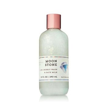 Bath and Body Works MOONSTONE 2-in-1 Bubbly Wash and Bath Milk 10 Fluid Ounce