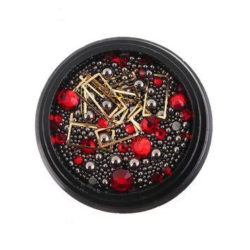 Kanzd Hot Nail Art Metal Round Beads Pearl Caviar Steel Ball Decoration Manicure DIY