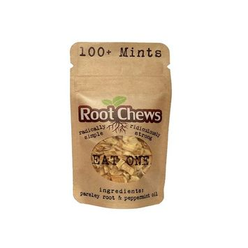 Root Chews MINTS! - Radically Simple, Ridiculously Strong - Truly Natural, Only 2 Ingredients, Sweetener Free, #BestMintsEver - FAST $1.47 Flat Rate Shipping (Any Quantity)