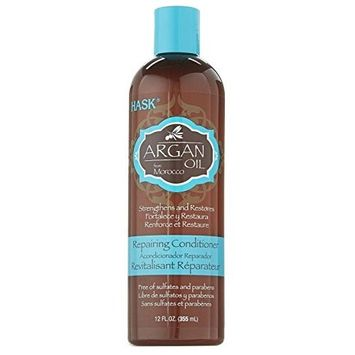 Hask Argan Oil Repairing Hair Care Conditioner, 12 Fluid Ounce - 6 per case. by Hask