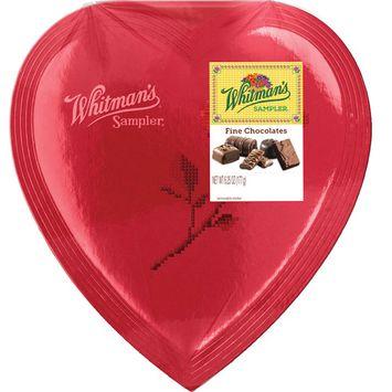 Whitman's Sampler Red Foil Heart Chocolate Box, 6.25 Oz.