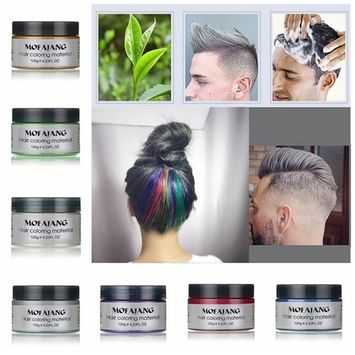 GTIA Men Women Professional Hair Wax Hair Colour Wax Hair Cream Hair Mud Dye Cream Hair Styling Modelling Washes easily - 120g (F)