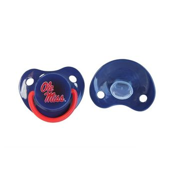 Orthodontic Pacifier | Official NCAA University of Mississippi Licensed Product – 2 Count Pack