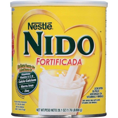 NESTLE NIDO Fortificada Dry Milk 28.1 Ounce. Canister