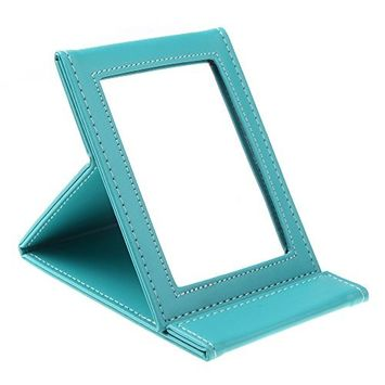 Makeup mirror - TOOGOO(R)Multi-functional foldable portable cosmetic makeup mirror for travel(blue)