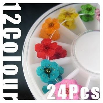 350buy Wheel Dried Dry Flower Nail Art Decorations UV Acrylic