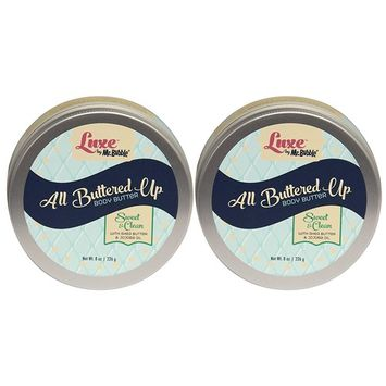 Luxe by Mr. Bubble, Body Butter, Sweet & Clean Scent, 8 oz, Pack of 2