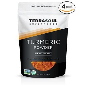 Terrasoul Superfoods Organic Turmeric Powder, 4 Pounds