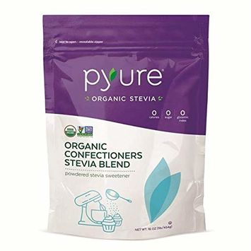 Organic Confectioners Stevia Blend, Powdered Sugar-free Sweetener, Keto, 16 oz