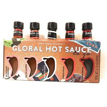 Modern Gourmet Global Hot Sauce To Go! 5-1.6oz Bottles! Hot Sauces From Around The World!