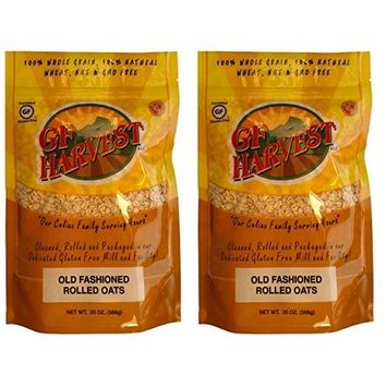 GF Harvest PureOats Rolled Oats, Gluten Free, 20 Ounce Bag (Pack of 2)