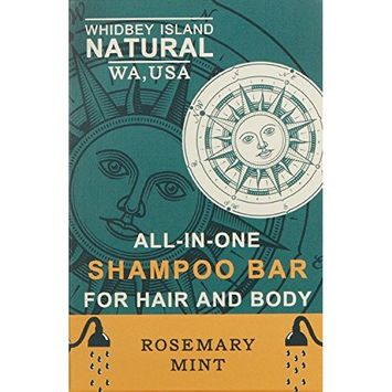 All-In-One Shampoo Bar - For Hair and Body | Rosemary Mint | Non-Drying and Moisturizing, Safe for colored hair, Great for use on Dandruff. Ideal for Travel. Organic. 4.2 OZ - BAR (2 PACK)