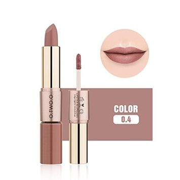 Matte Lipstick,vmree Double-End Velvet Matte Lipstick Lip Gloss Cosmetic