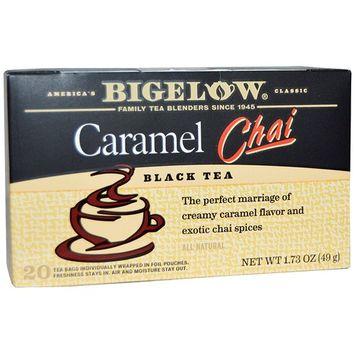 Bigelow, Black Tea, Caramel Chai, 20 Tea Bags, 1.73 oz (Pack of 3)