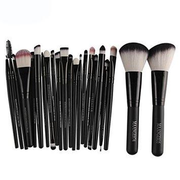 Start 22pcs/Sets Makeup Brush Set for Eye Shadow Foundation Eyebrow Lip-BK