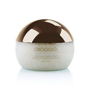 White Gold 24K Classic Body Scrub Exfoliator from OROGOLD Cosmetics, 275 g. / 9.7 oz.