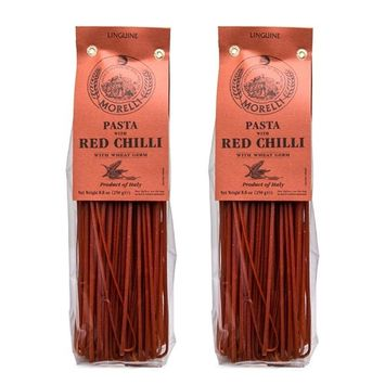 Morelli - Linguine Pasta with Red Chilli, Made in Italy - 8.8oz (250g) - pack of 2