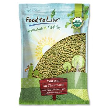 Organic Green Lentils by Food to Live (Whole Dry Beans, Non-GMO, Raw, Sproutable, Bulk) — 20 Pounds