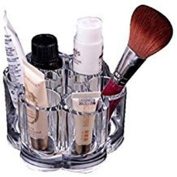 FTXJ Fashion Plum Flower Clear Acrylic Shaped Cosmetic Lipstick Brush Holder Makeup Storage Box Case