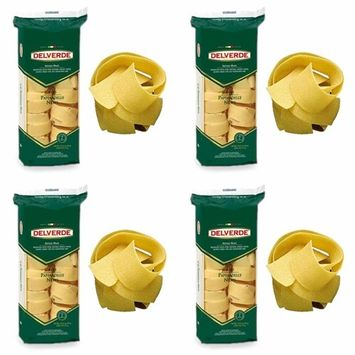 4 PACK-Free Delivery - Delverde Artisan Made Pappardelle Nests - made with natural spring water, slow dried - Certified Kosher No 83