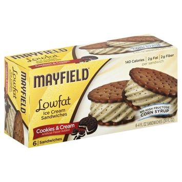 Dean Foods Mayfield Ice Cream Sandwiches, 6 ea