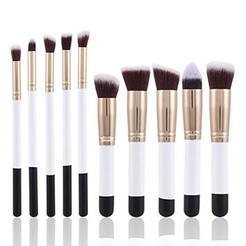 Makeup Brushes, Hometom 10Pcs Makeup Brush Set Foundation Powder Eyeshadow Brushes (G