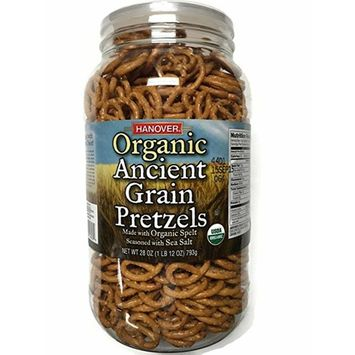 Hanover Organic Ancient Grains Spelt Pretzels, 28 Oz. Barrel by Hanover