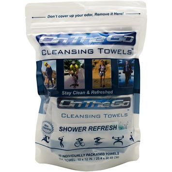On The Go Towels, Shower Refresh, 10 ct.
