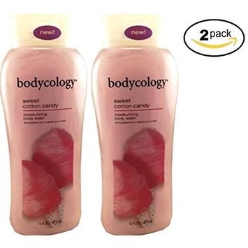 Bodycology Moisturizing Body Wash for Women, Sweet Cotton Candy,16.0 Fluid Ounce (Pack of 2) Bodycology
