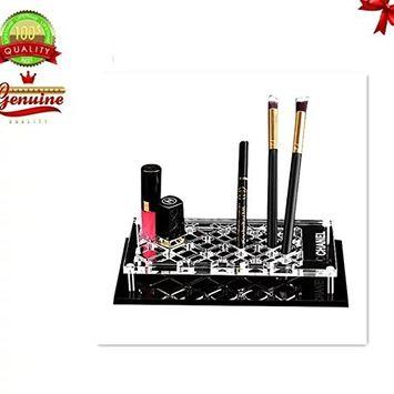 EYX Formula Dimamond Compartment Cosmetic Holder,Lipstick and Makeup Brush Oragnizer