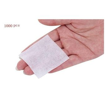 1 Box(1000PCS) Disposable Deep Clean Cotton Pads-Cosmetic Face Neck Mouth Makeup Remover Accessories Tools(White)