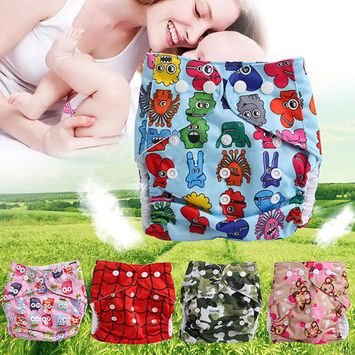 Girl12Queen Baby Washable Waterproof Cloth Diaper Cover Cute Cartoon Baby Reusable Nappy