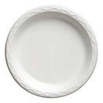 Blue Sky 100 Count Disposable Plastic Plates, 6-Inch, White
