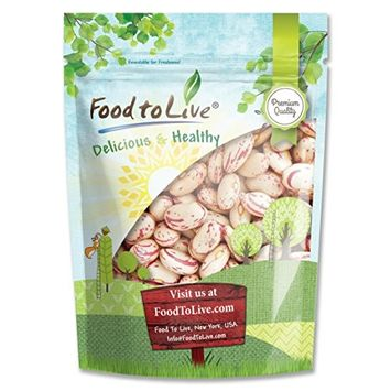 Food to Live Cranberry Beans (Borlotti) (5 Pounds)