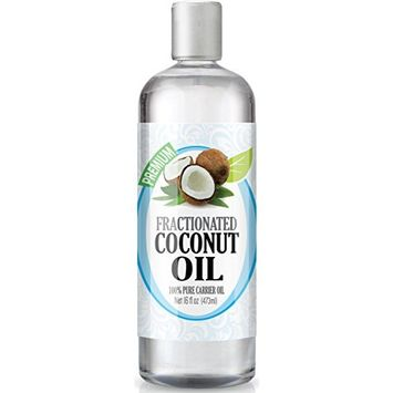Healing Solutions - Fractionated Coconut Oil (16oz) 100% Pure, Best Therapeutic Grade Essential Oil - 16oz