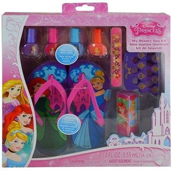 Disney Princess My Beauty Spa Set- Nail Polish, Sandal & Toe Separators For Girls   Spa Set For Girls   Perfect Gift For Christmas, Birthday, Easter or Any Other Occasions