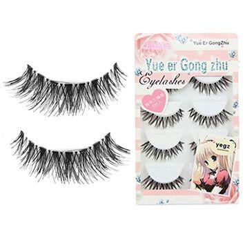 Usstore 5Pair Eyelash Eye Lot Crisscross False Eyelashes Lashes Voluminous