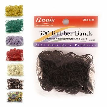 Annie 300 Rubber Bands Assorted Size Black and White 3155