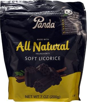 Panda Soft Licorice - 7 oz - Case of 12 - HSG-163006