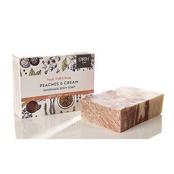 Earth Luxe Handmade Bath Soap- Peaches and Cream