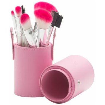 The Lano Company The Lano Company 12 Piece Makeup Brush Set, Pink