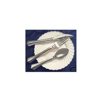 Reflections Silver Plastic Spoons 40ct