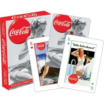 Coca Cola Beauties Playing Cards by NMR Calendars