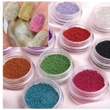 350buy 5pcs Blue 2 Way Double Ended Nail Art Manicure Pedicure Dot Paint Dotting Painting Marbleizing Pen Tool+Fashion Caviar Nails Art New 12 Colors plastic Beads Manicures or Pedicures Nail Art Hot Sales